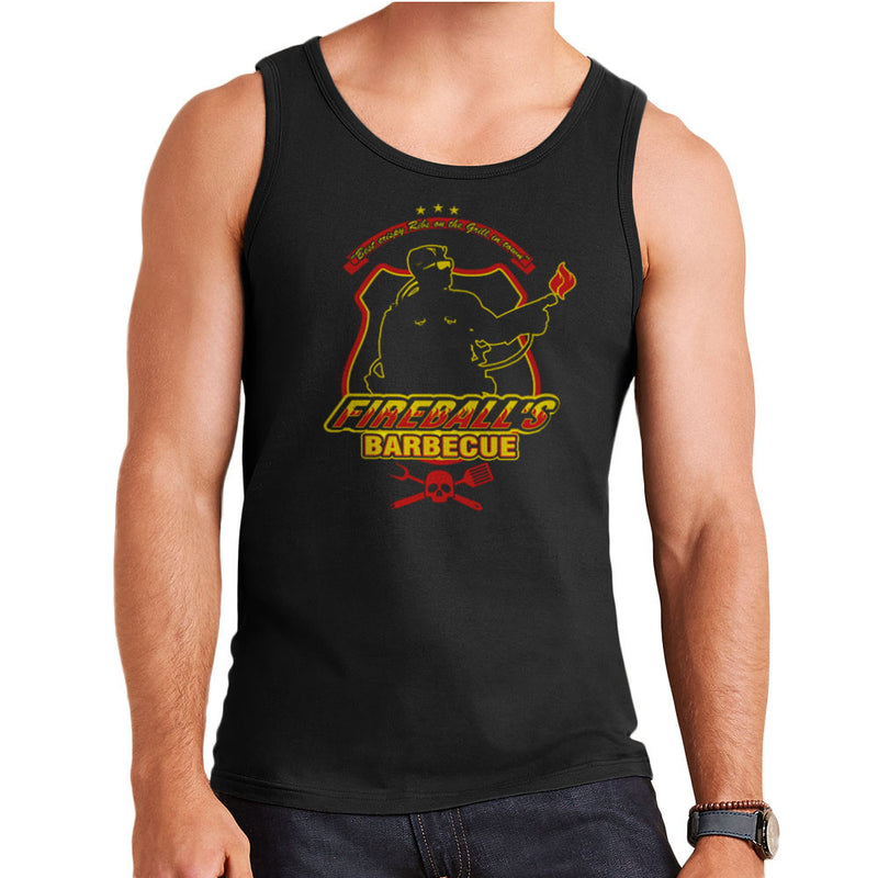Fireballs BBQ Running Man Men's Vest by AndreusD - Cloud City 7