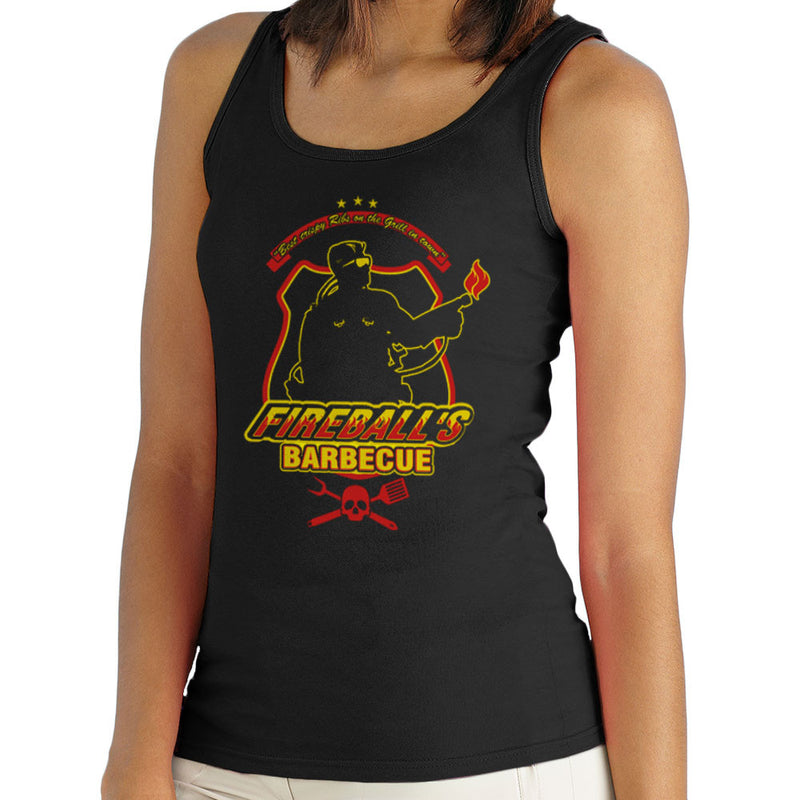 Fireballs BBQ Running Man Women's Vest Women's Vest Cloud City 7 - 1