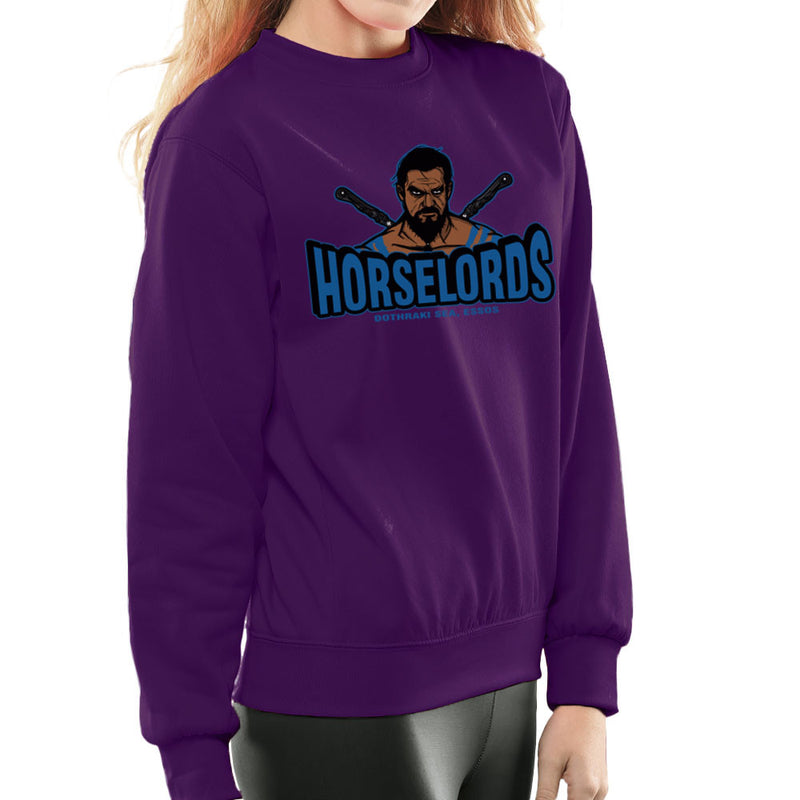 Horselords Dothraki Sea Essos Game of Thrones Khal Drogo Women's Sweatshirt by AndreusD - Cloud City 7