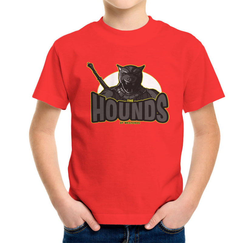 The Hounds of Westeros Sandor Clegane Game of Thrones Kid's T-Shirt Kid's Boy's T-Shirt Cloud City 7 - 15