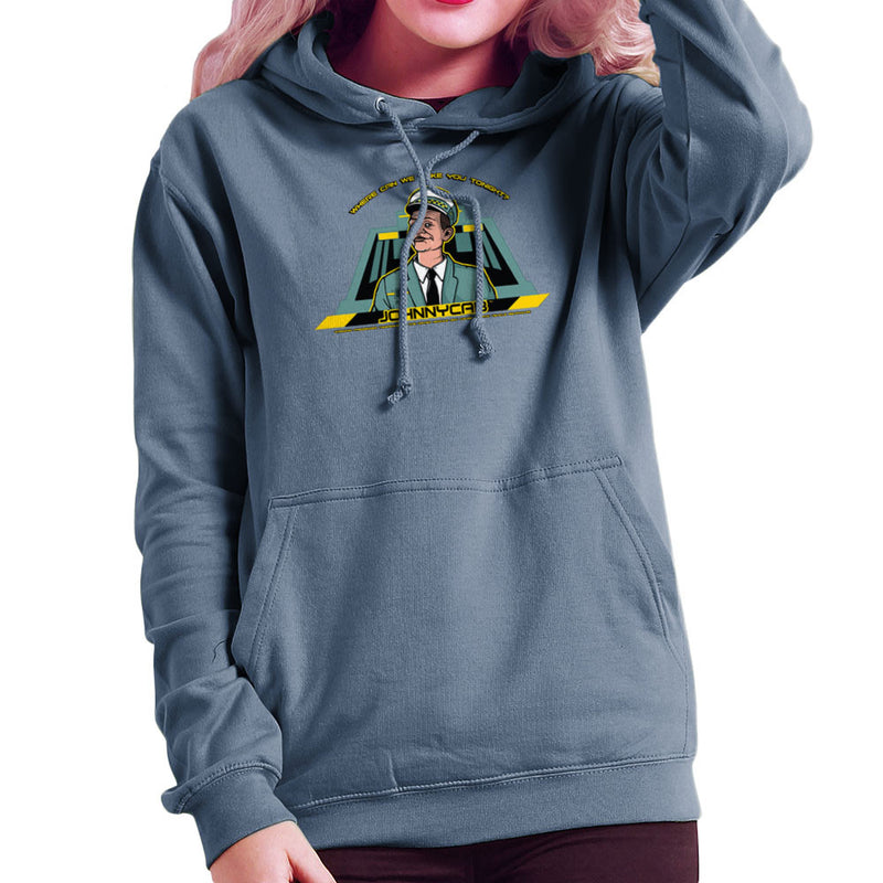 Johnny Cab Total Recall Women's Hooded Sweatshirt by AndreusD - Cloud City 7