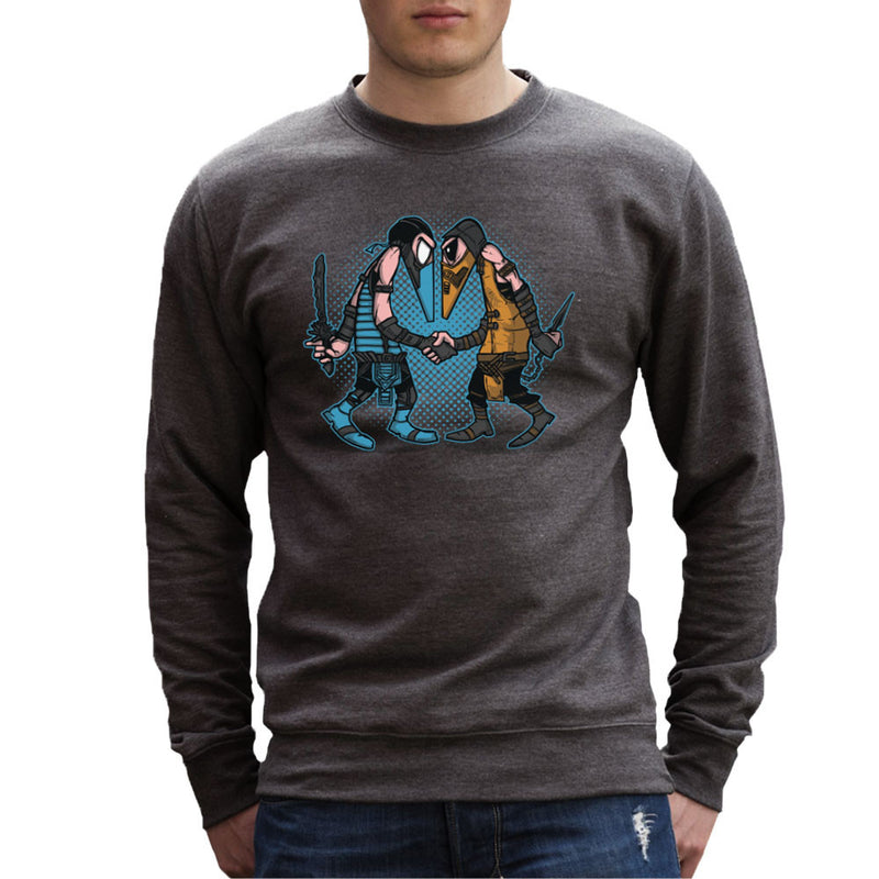 Mortal Kombat Spies Sub Zero Vs Scorpion Spy Vs Spy Men's Sweatshirt by AndreusD - Cloud City 7