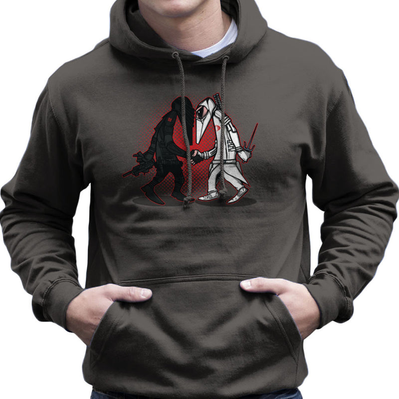 Ninja Vs Ninja Snake Eyes Vs Storm Shadow Spy Vs Spy GI Joe Men's Hooded Sweatshirt Men's Hooded Sweatshirt Cloud City 7 - 4