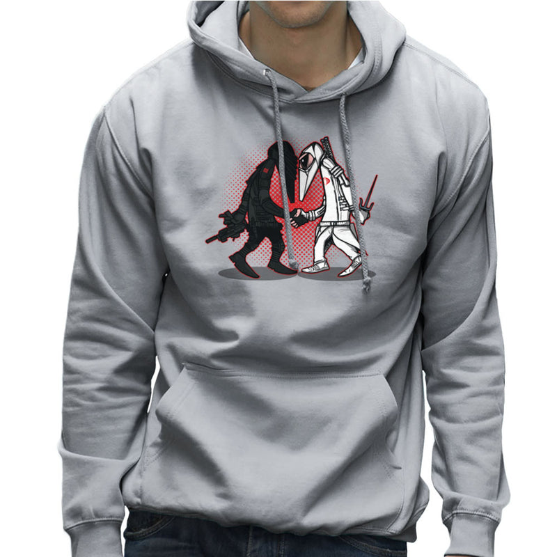 Ninja Vs Ninja Snake Eyes Vs Storm Shadow Spy Vs Spy GI Joe Men's Hooded Sweatshirt Men's Hooded Sweatshirt Cloud City 7 - 5