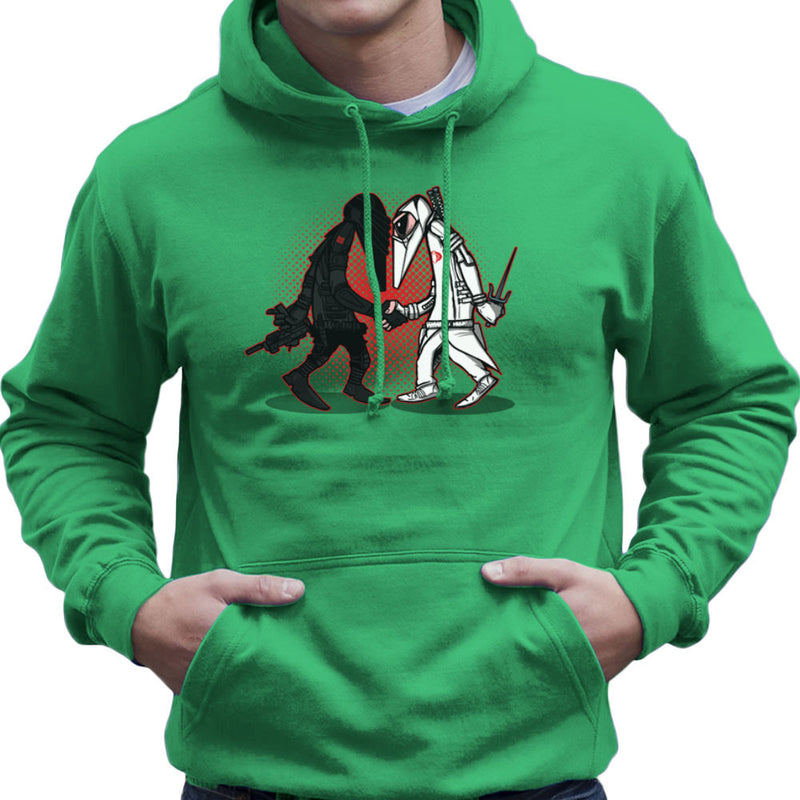 Ninja Vs Ninja Snake Eyes Vs Storm Shadow Spy Vs Spy GI Joe Men's Hooded Sweatshirt Men's Hooded Sweatshirt Cloud City 7 - 14