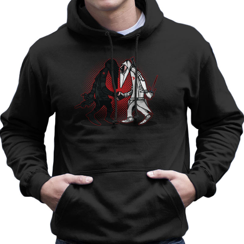 Ninja Vs Ninja Snake Eyes Vs Storm Shadow Spy Vs Spy GI Joe Men's Hooded Sweatshirt Men's Hooded Sweatshirt Cloud City 7 - 1