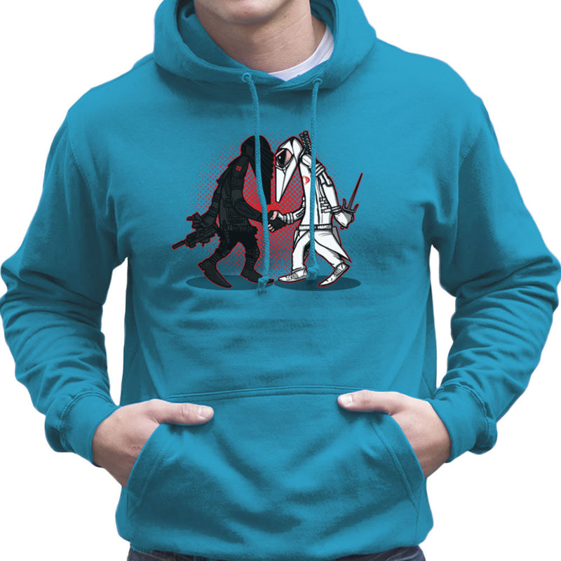 Ninja Vs Ninja Snake Eyes Vs Storm Shadow Spy Vs Spy GI Joe Men's Hooded Sweatshirt Men's Hooded Sweatshirt Cloud City 7 - 10
