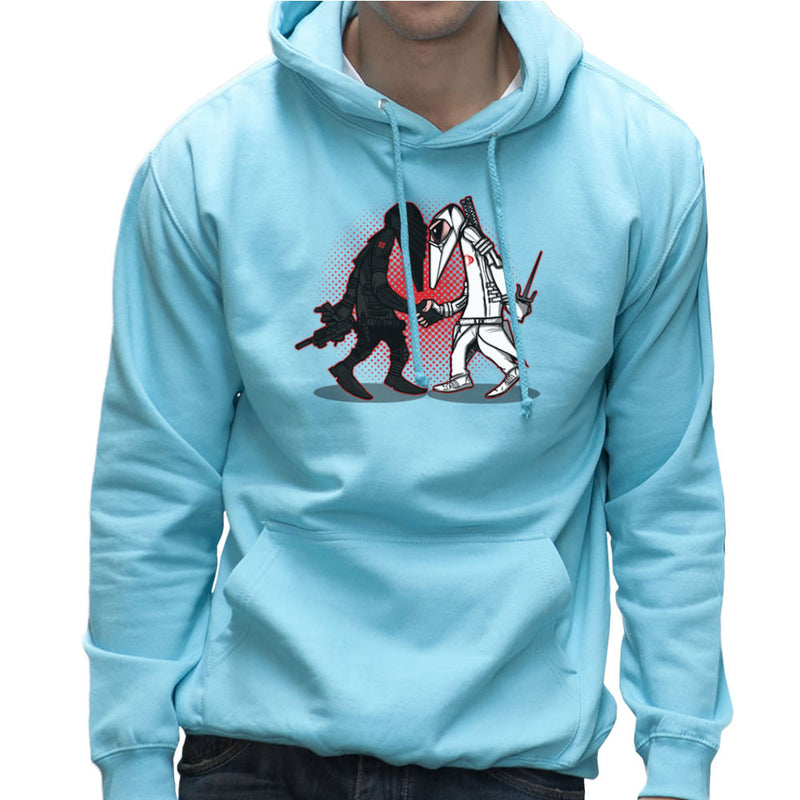 Ninja Vs Ninja Snake Eyes Vs Storm Shadow Spy Vs Spy GI Joe Men's Hooded Sweatshirt Men's Hooded Sweatshirt Cloud City 7 - 11