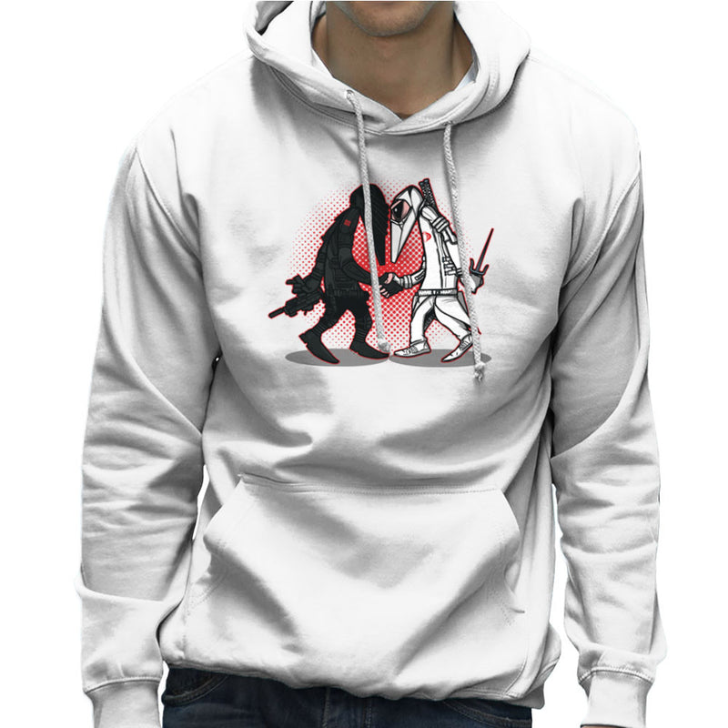 Ninja Vs Ninja Snake Eyes Vs Storm Shadow Spy Vs Spy GI Joe Men's Hooded Sweatshirt Men's Hooded Sweatshirt Cloud City 7 - 6