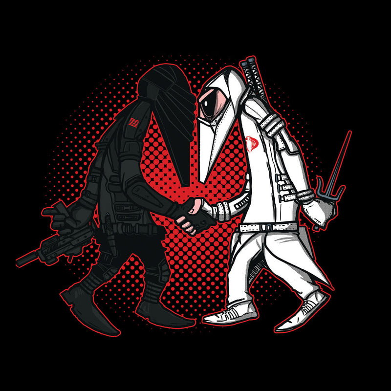 Ninja Vs Ninja Snake Eyes Vs Storm Shadow Spy Vs Spy GI Joe Men's Hooded Sweatshirt Men's Hooded Sweatshirt Cloud City 7 - 3