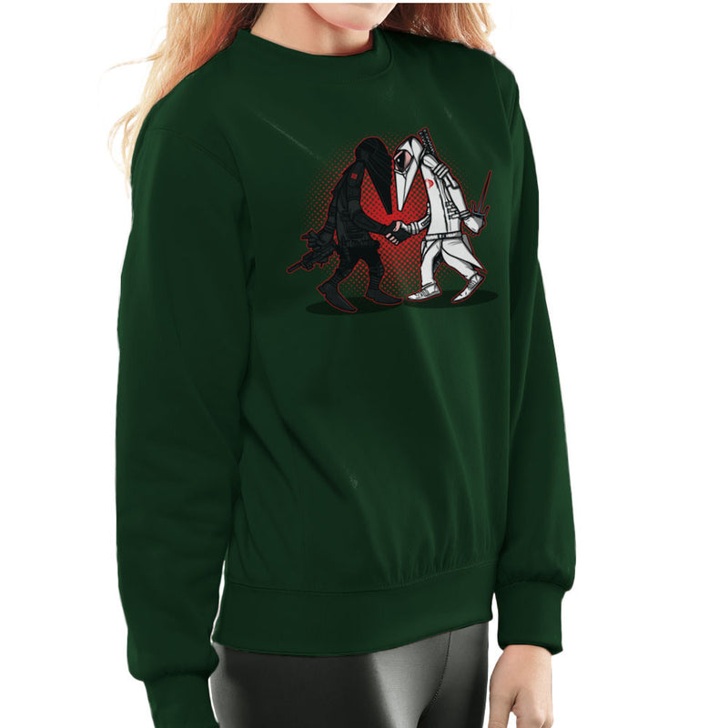 Ninja Vs Ninja Snake Eyes Vs Storm Shadow Spy Vs Spy GI Joe Women's Sweatshirt Women's Sweatshirt Cloud City 7 - 13