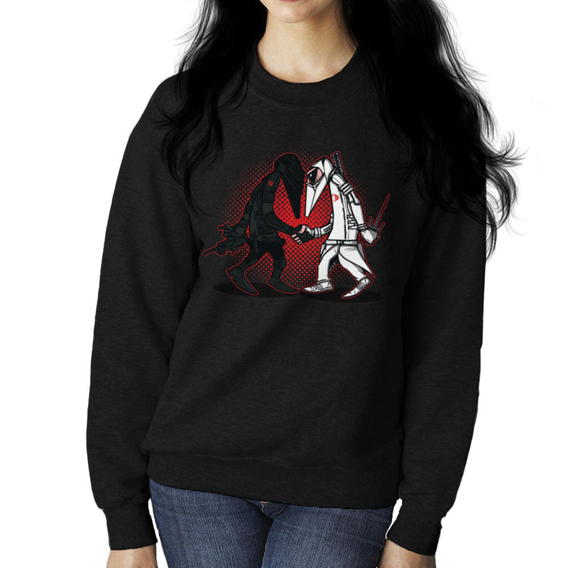 Ninja Vs Ninja Snake Eyes Vs Storm Shadow Spy Vs Spy GI Joe Women's Sweatshirt Women's Sweatshirt Cloud City 7 - 1