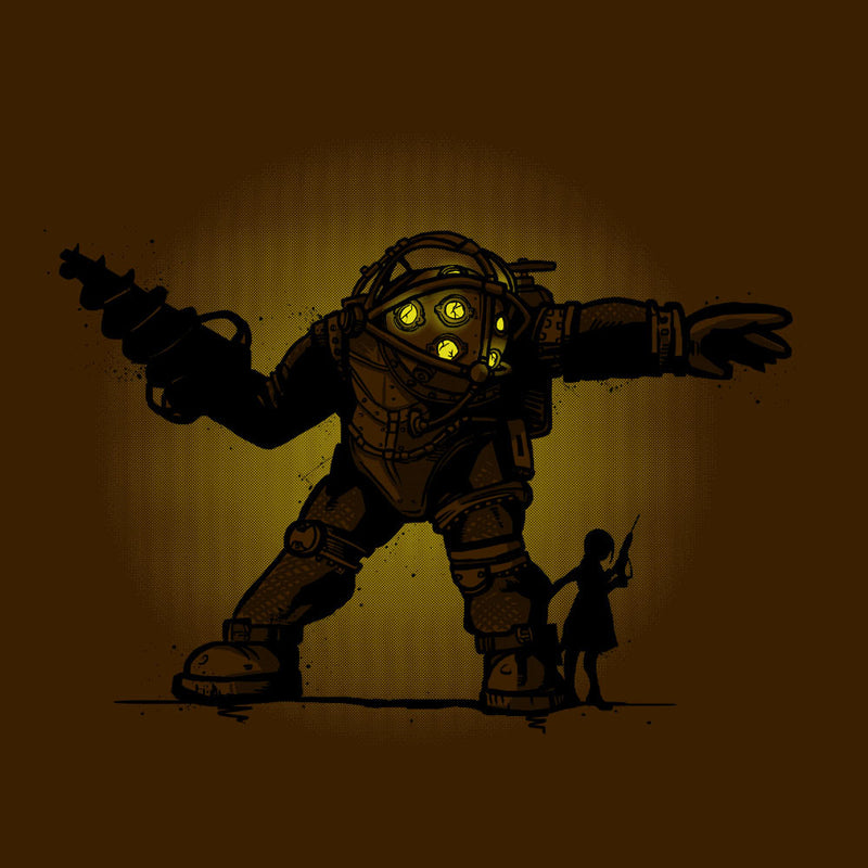 Pair Bond Big Daddy Little Sister BioShock Kid's T-Shirt by AndreusD - Cloud City 7