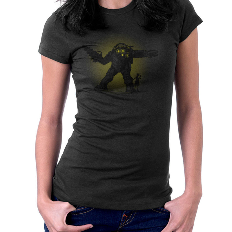 Pair Bond Big Daddy Little Sister BioShock Women's T-Shirt by AndreusD - Cloud City 7