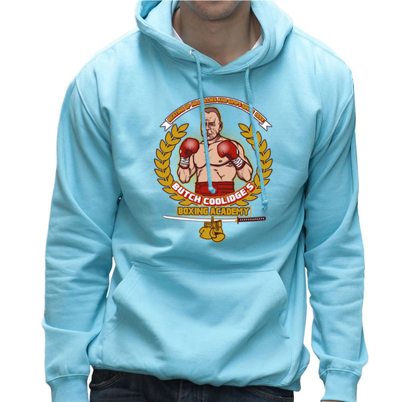Butch Coolidges Boxing Academy Pulp Fiction Men's Hooded Sweatshirt by AndreusD - Cloud City 7