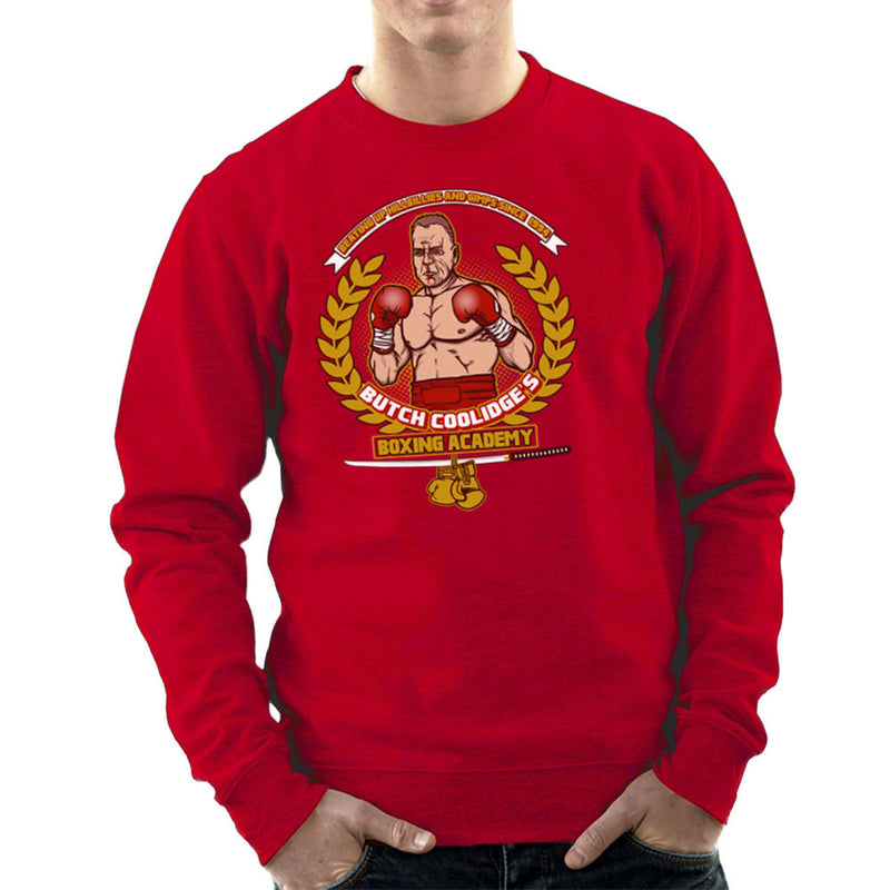 Butch Coolidges Boxing Academy Pulp Fiction Men's Sweatshirt by AndreusD - Cloud City 7