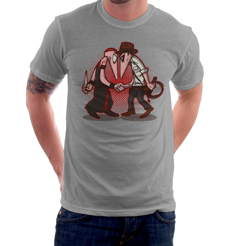 Raider Vs Priest Indiana Jones Vs Mola Ram Temple of Doom Spy Vs Spy Men's T-Shirt by AndreusD - Cloud City 7