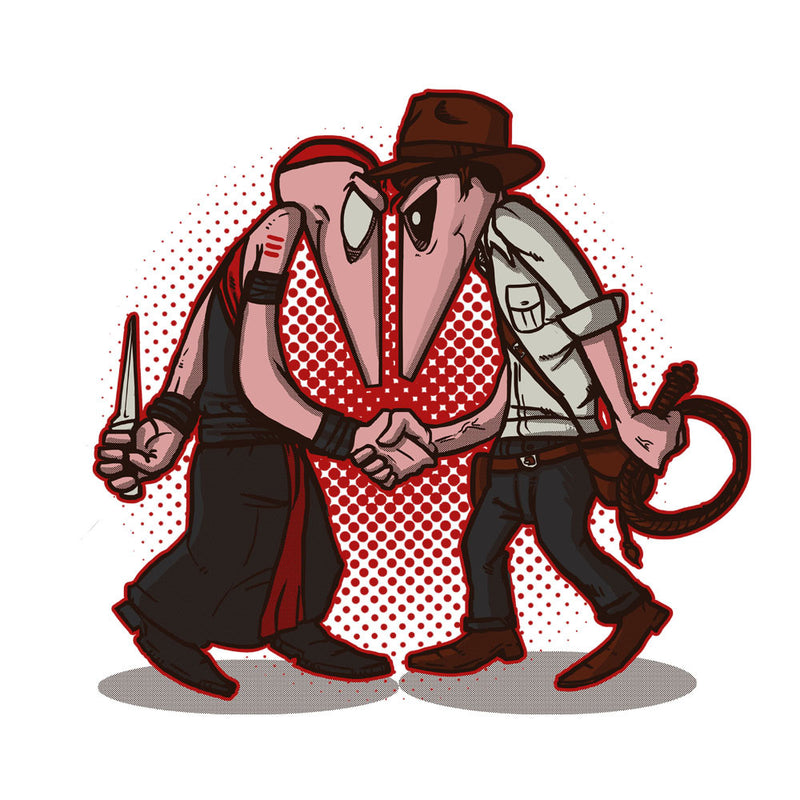 Raider Vs Priest Indiana Jones Vs Mola Ram Temple of Doom Spy Vs Spy Women's Sweatshirt by AndreusD - Cloud City 7