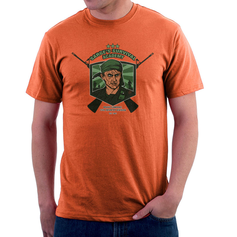 Sarges Survival Academy Platoon Sergeant Barnes Men's T-Shirt by AndreusD - Cloud City 7