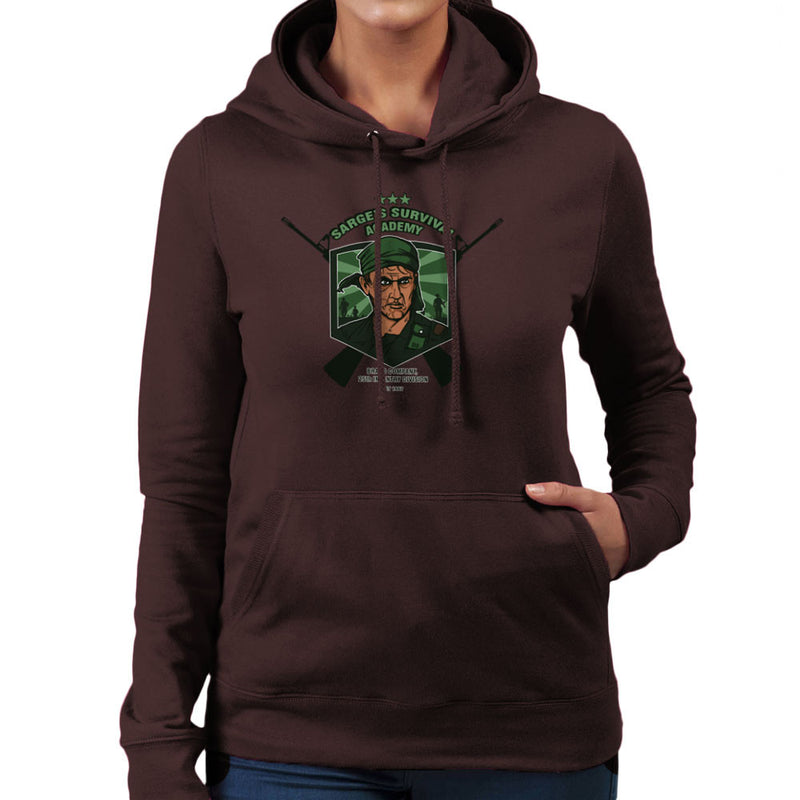 Sarges Survival Academy Platoon Sergeant Barnes Women's Hooded Sweatshirt by AndreusD - Cloud City 7