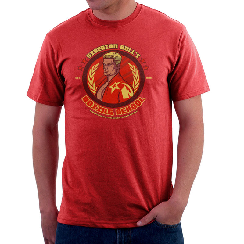 Siberian Bulls Boxing School Ivan Drago Rocky IV Men's T-Shirt by AndreusD - Cloud City 7