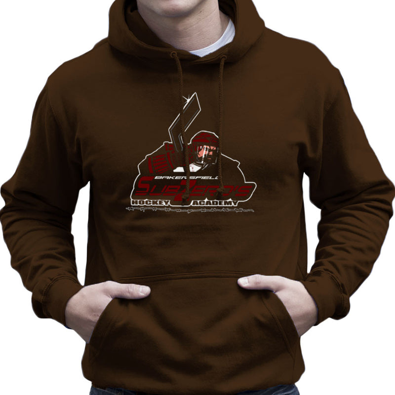 Sub Zero Hockey Academy Running Man Men's Hooded Sweatshirt by AndreusD - Cloud City 7