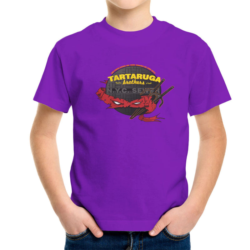 Tartaruga Brothers Teenage Mutant Ninja Turtles Raphael Kid's T-Shirt by AndreusD - Cloud City 7