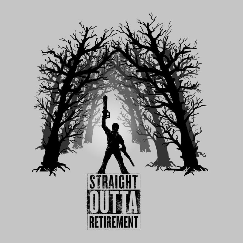 The Comeback Ash Vs Evil Dead Straight Outta Retirement Men's Hooded Sweatshirt by AndreusD - Cloud City 7