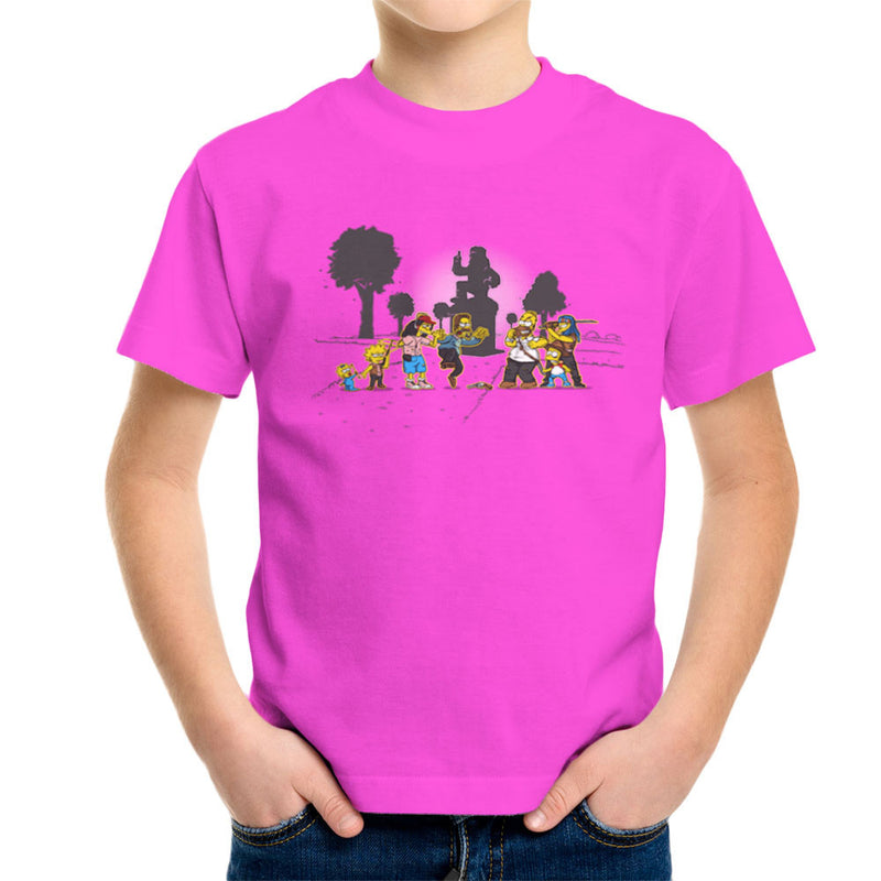 Yellow Fever the Simpsons Walking Dead Kid's T-Shirt by AndreusD - Cloud City 7