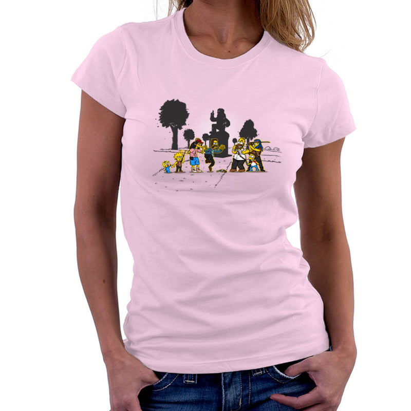 Yellow Fever the Simpsons Walking Dead Women's T-Shirt by AndreusD - Cloud City 7