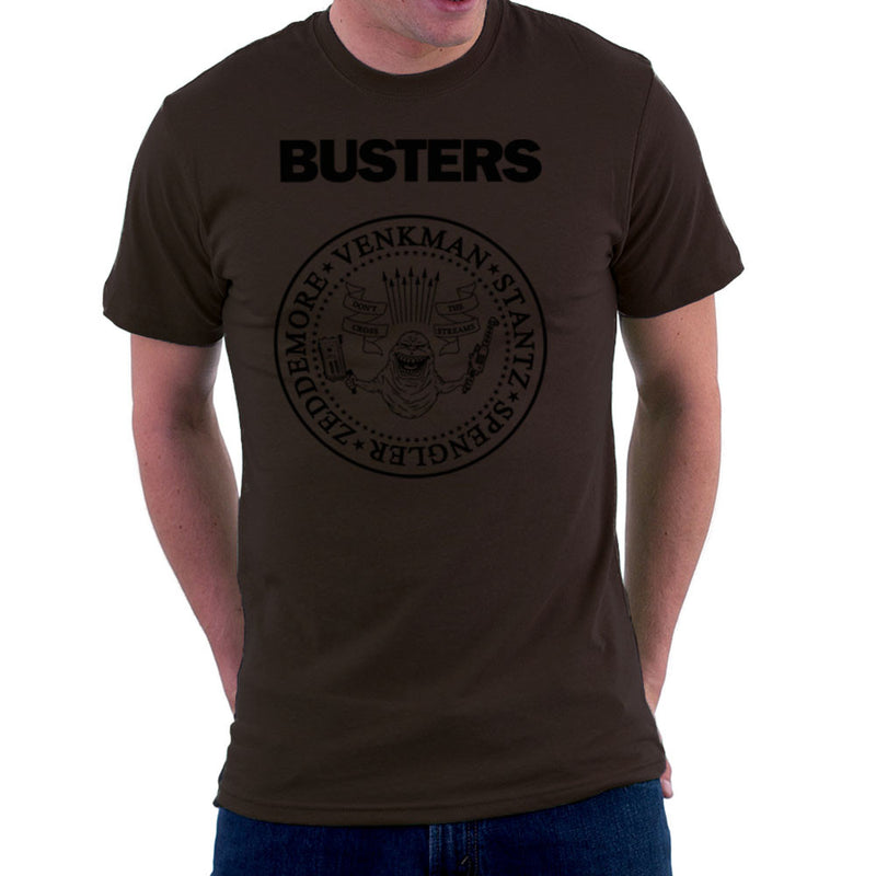 Ramones Busters Slimer Ghostbusters Logo Black Men's T-Shirt Men's T-Shirt Cloud City 7 - 12