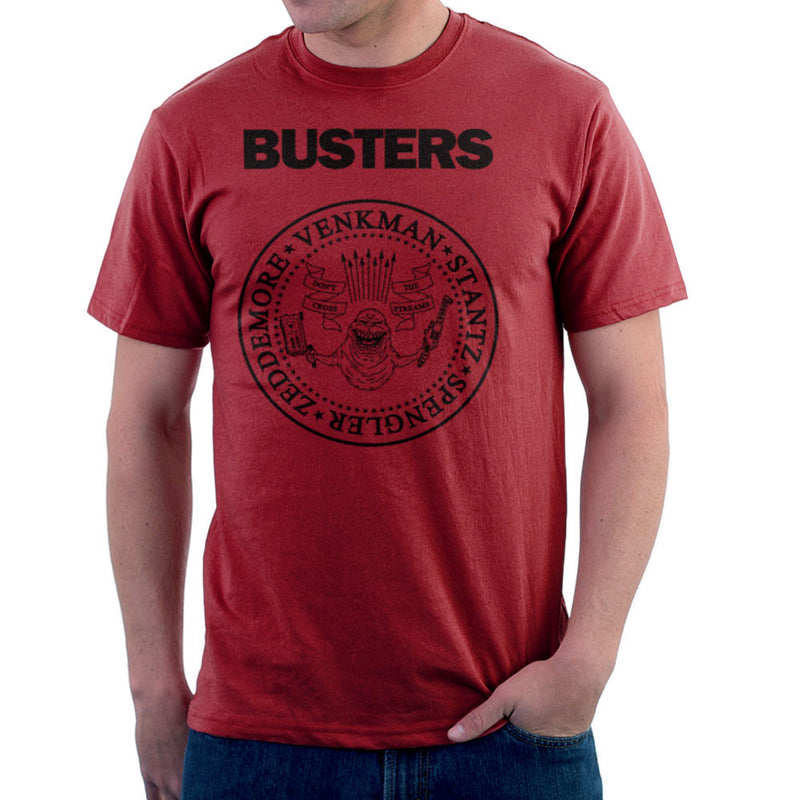 Ramones Busters Slimer Ghostbusters Logo Black Men's T-Shirt Men's T-Shirt Cloud City 7 - 15