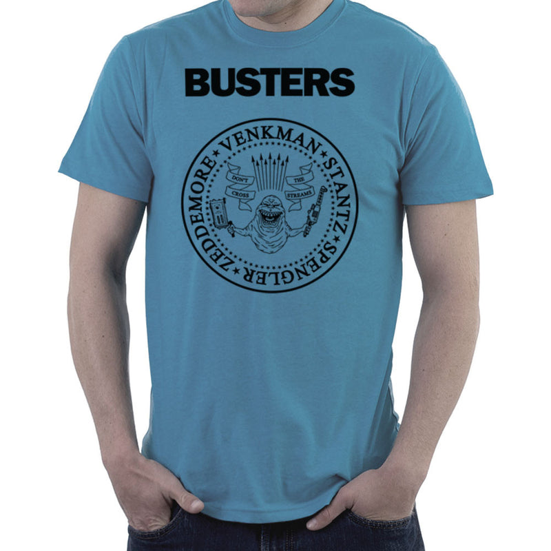 Ramones Busters Slimer Ghostbusters Logo Black Men's T-Shirt Men's T-Shirt Cloud City 7 - 9