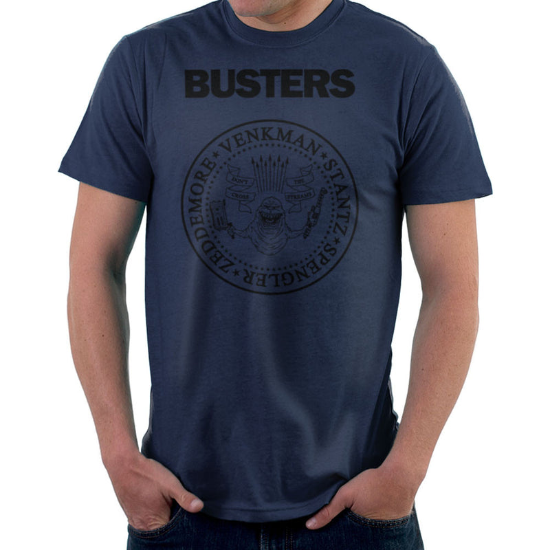 Ramones Busters Slimer Ghostbusters Logo Black Men's T-Shirt Men's T-Shirt Cloud City 7 - 7