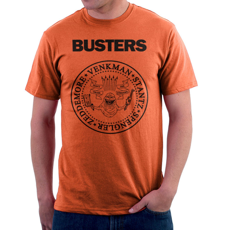Ramones Busters Slimer Ghostbusters Logo Black Men's T-Shirt Men's T-Shirt Cloud City 7 - 17
