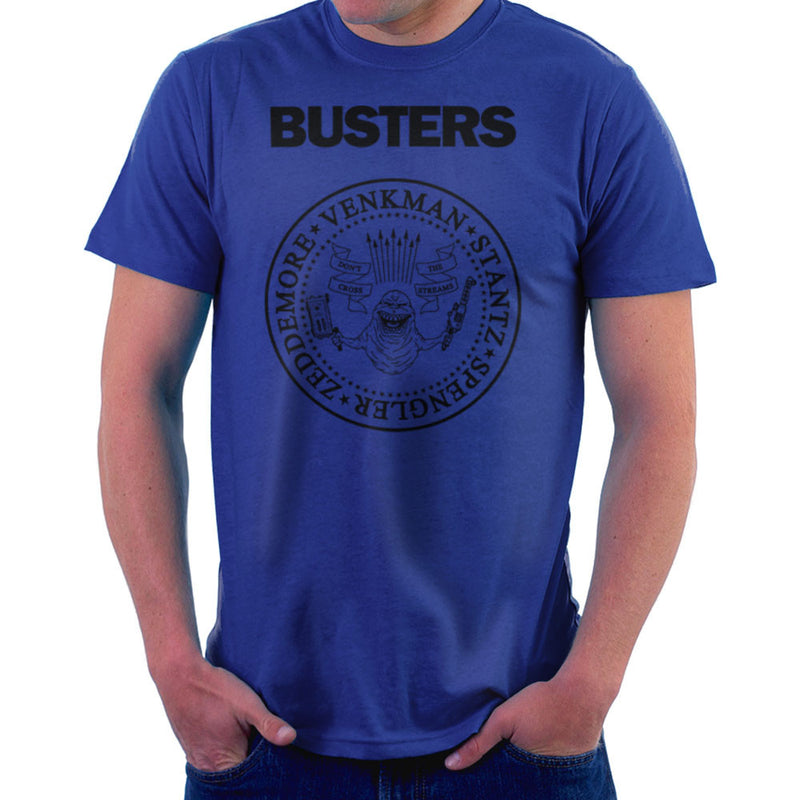 Ramones Busters Slimer Ghostbusters Logo Black Men's T-Shirt Men's T-Shirt Cloud City 7 - 8