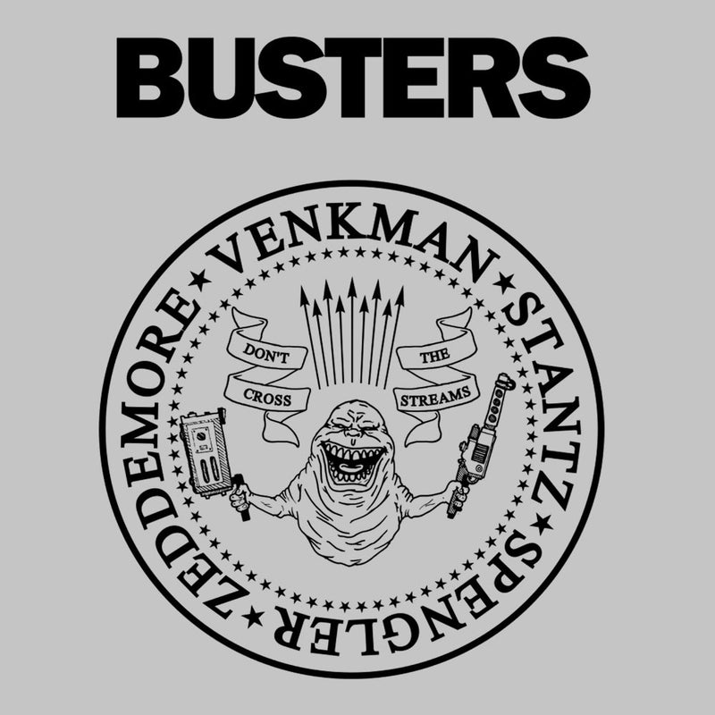 Ramones Busters Slimer Ghostbusters Logo Black Men's T-Shirt Men's T-Shirt Cloud City 7 - 3