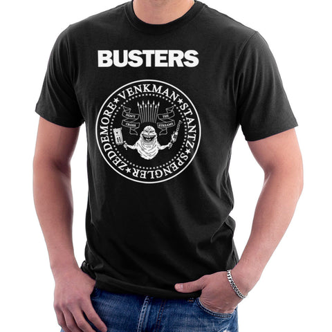 Ramones Busters Slimer Ghostbusters Logo White