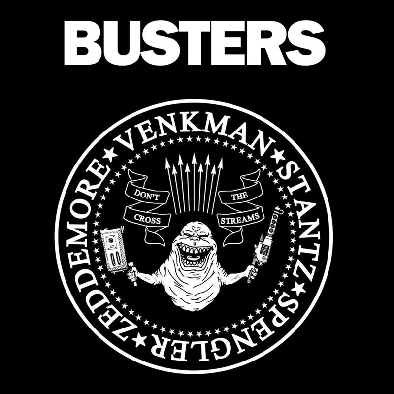 Ramones Busters Slimer Ghostbusters Logo White by Chris Stringer - Cloud City 7