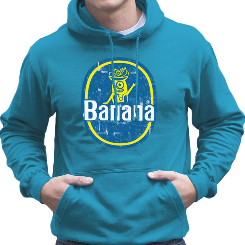BANANAAAAAAA Minions Banana Sticker Stuart Men's Hooded Sweatshirt by Kempo24 - Cloud City 7