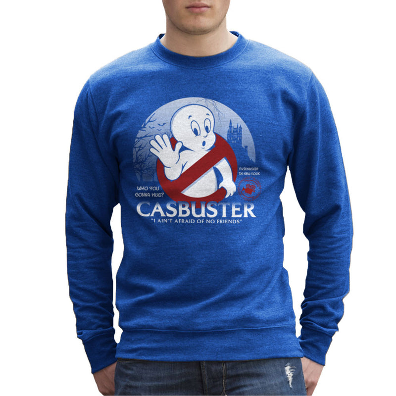 Casbuster Casper the Friendly Ghost Ghostbusters Men's Sweatshirt by Kempo24 - Cloud City 7