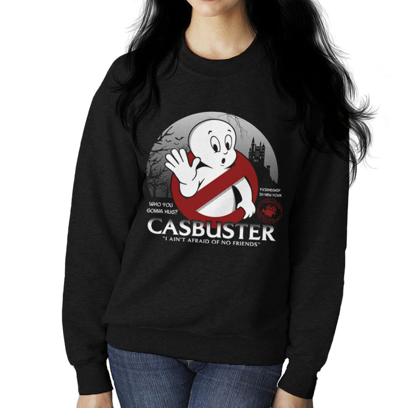 Casbuster Casper the Friendly Ghost Ghostbusters Women's Sweatshirt Women's Sweatshirt Cloud City 7 - 2
