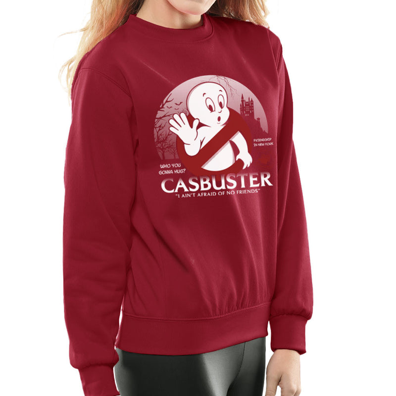 Casbuster Casper the Friendly Ghost Ghostbusters Women's Sweatshirt by Kempo24 - Cloud City 7