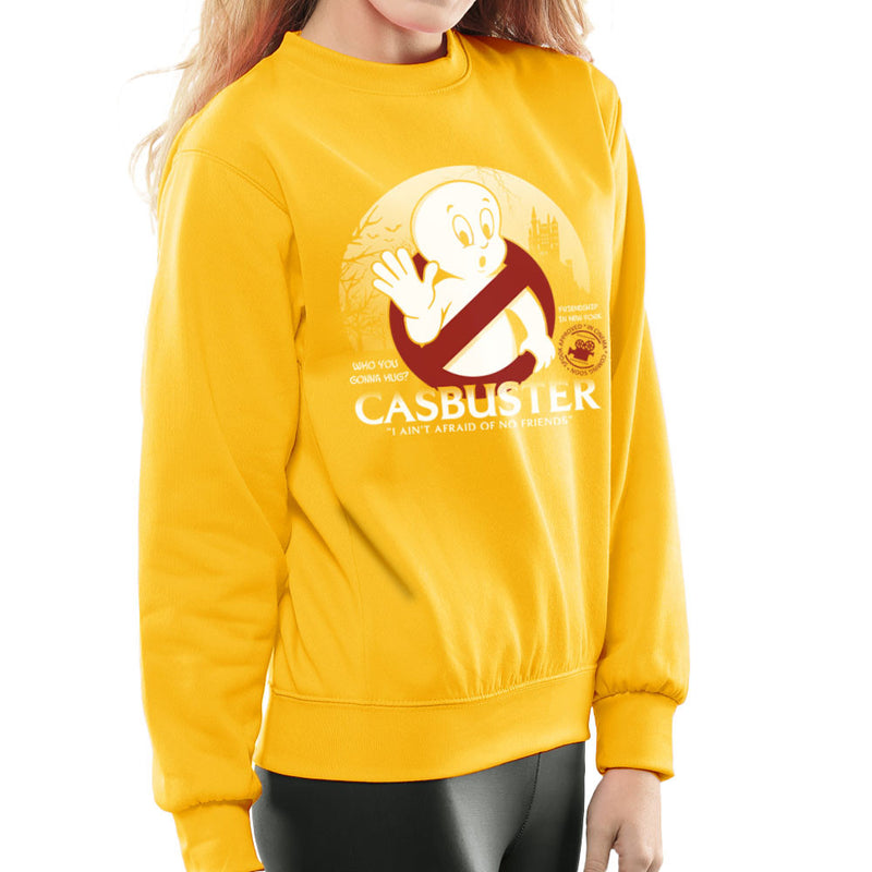 Casbuster Casper the Friendly Ghost Ghostbusters Women's Sweatshirt Women's Sweatshirt Cloud City 7 - 18