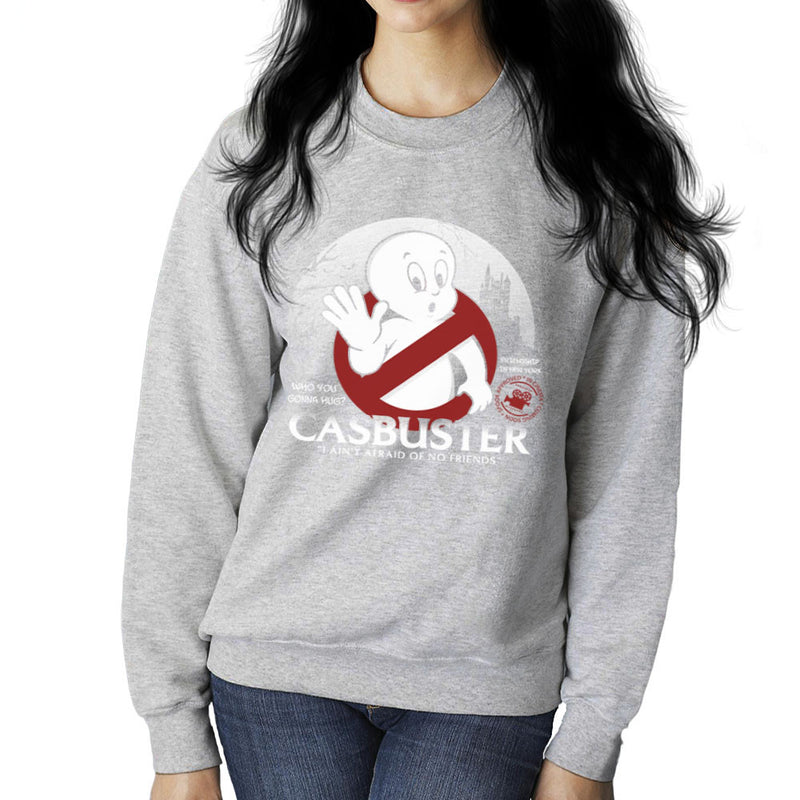 Casbuster Casper the Friendly Ghost Ghostbusters Women's Sweatshirt Women's Sweatshirt Cloud City 7 - 5