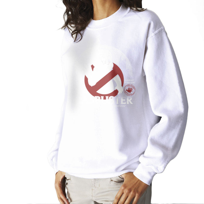 Casbuster Casper the Friendly Ghost Ghostbusters Women's Sweatshirt Women's Sweatshirt Cloud City 7 - 6