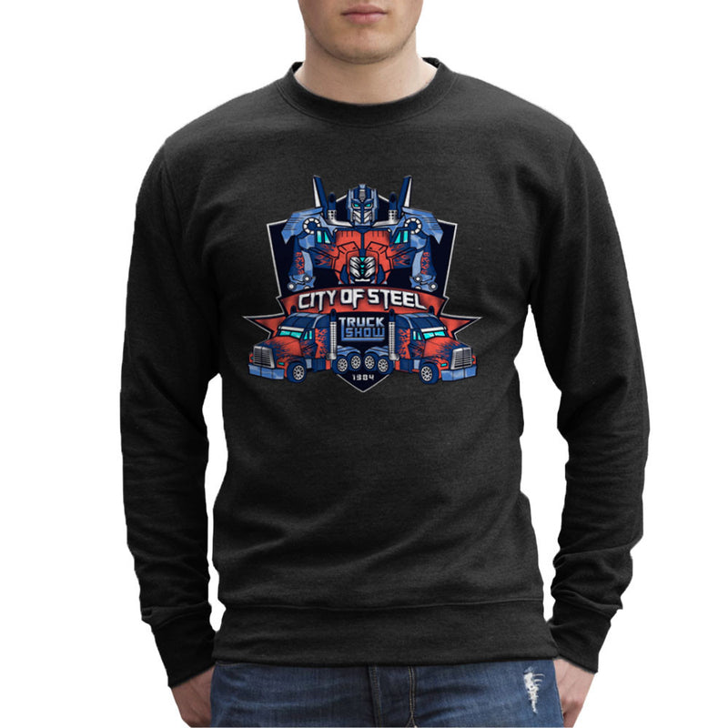 City of Steal Optimus Prime Truck Show Transformers Men's Sweatshirt Men's Sweatshirt Cloud City 7 - 2