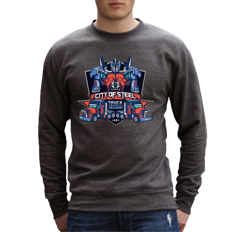 City of Steal Optimus Prime Truck Show Transformers Men's Sweatshirt Men's Sweatshirt Cloud City 7 - 4