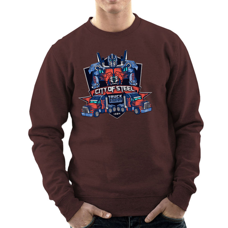 City of Steal Optimus Prime Truck Show Transformers Men's Sweatshirt Men's Sweatshirt Cloud City 7 - 12