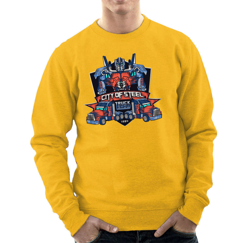 City of Steal Optimus Prime Truck Show Transformers Men's Sweatshirt Men's Sweatshirt Cloud City 7 - 18